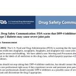 DPP-4阻害薬で重大な関節痛