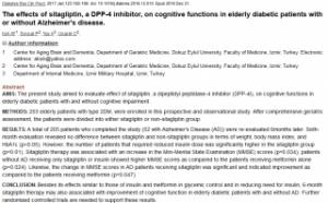 シタグリプチンが認知機能を改善