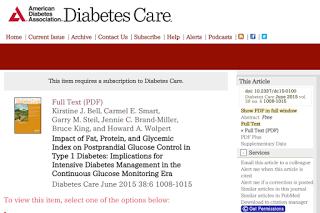 1型糖尿病における脂肪、タンパク質、GI比の食後血糖コントロールに与える影響