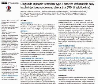 強化インスリン療法とリラグルチドの併用